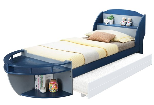 Acme Furniture Neptune II Gray Navy Twin Bed ACM-30620T