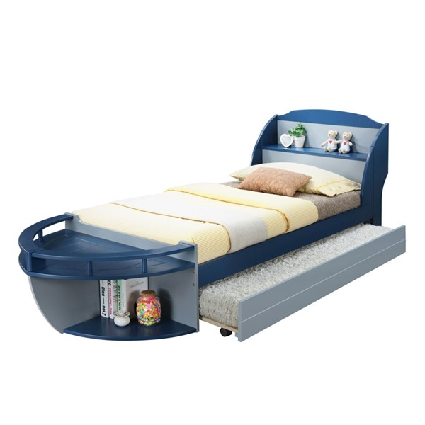 Acme Furniture Neptune II Navy Gray Twin Trundle Bed ACM-30620T-TR-BED