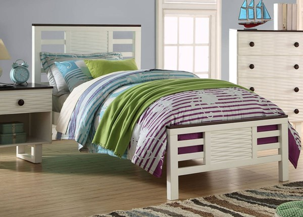 Florrie Transitional White Espresso Twin Bed ACM-30635T