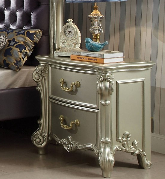 Vendome Traditional Champagne Wood MDF Nightstand ACM-30698