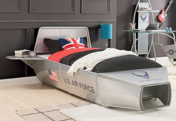 Acme Furniture Aeronautic Silver Beds ACM-3610-BED-VAR