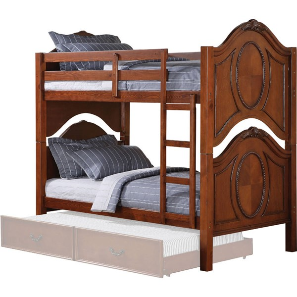 Acme Furniture Classique Cherry Twin over Twin Bunk Bed ACM-37005