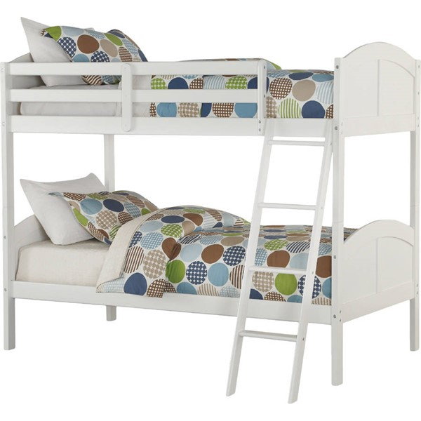 Acme Furniture Toshi White Twin Over Twin Bunk Bed ACM-37009