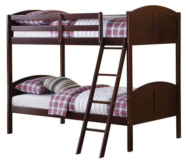Acme Furniture Toshi Espresso Twin over Twin Bunk Bed ACM-37010