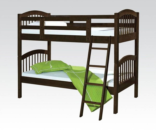 Manville Traditional Espresso Honey Oak Wood Bunk Beds ACM-3711-BB-VAR