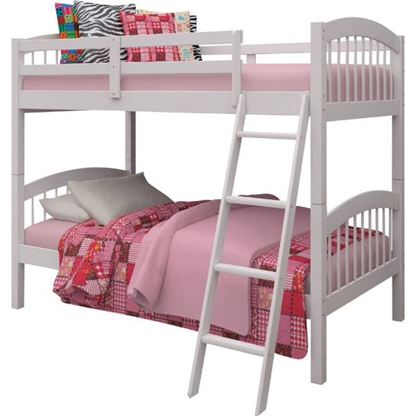Acme Furniture Manville White Twin Over Twin Bunk Bed ACM-37115WH