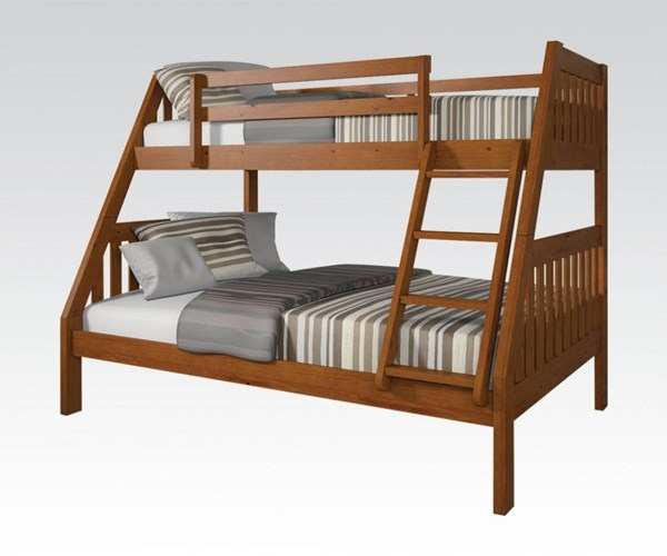 Ryo Youth Oak Taeda Pine Twin/Full Bunk Bed ACM-37125B