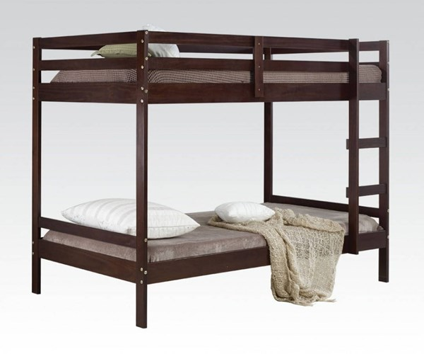 Rosie Brown Espresso Wood Twin/Twin Bunk Bed ACM-37175
