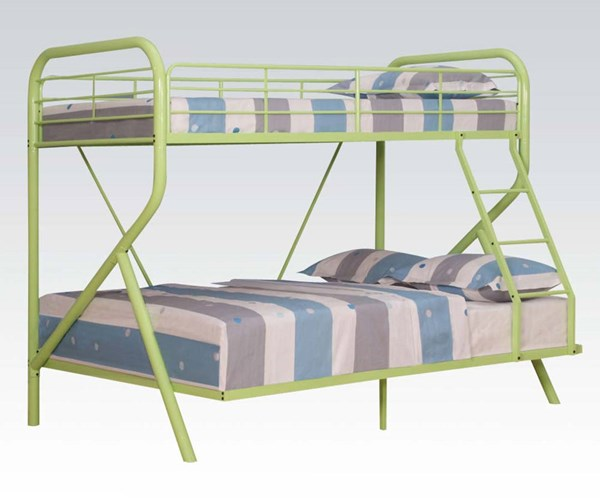 Tracy Green Metal Right Facing Ladded Twin/Full Bunk Bed ACM-37320