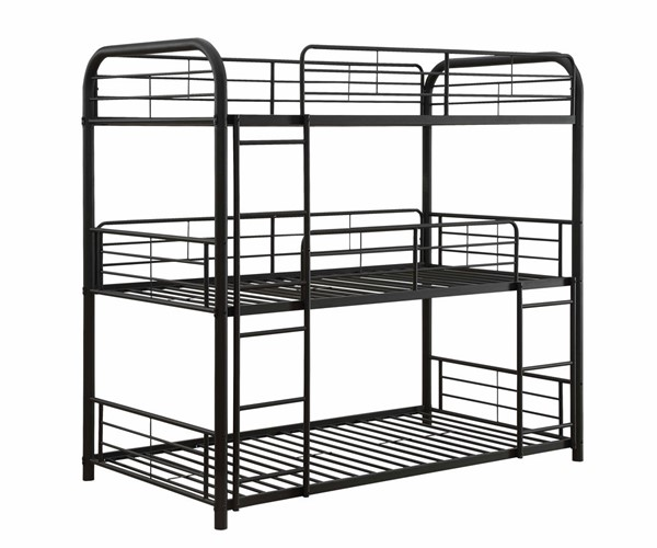 Acme Furniture Cairo Sandy Black Twin Triple Bunk Bed ACM-37335