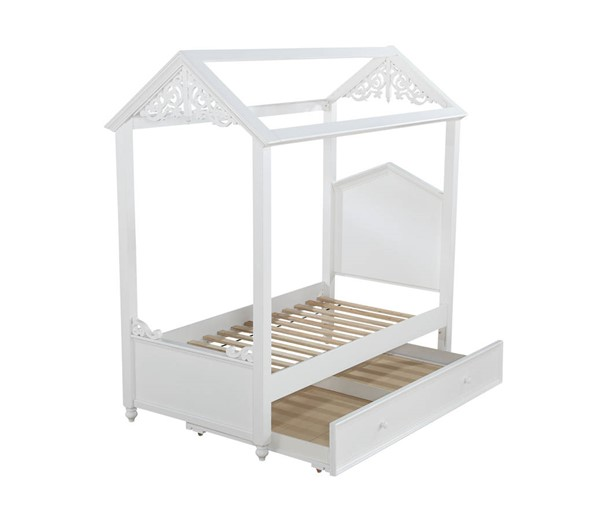 Acme Furniture Rapunzel White Trundle Beds ACM-373-TR-BED-VAR