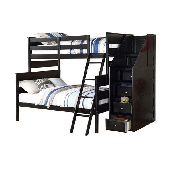 Acme Furniture Alvis Storage Ladder Bunk Bed ACM-37365