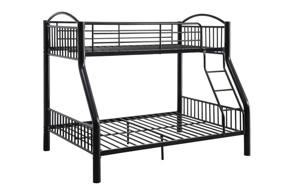 Acme Furniture Cayelynn Black Twin Over Full Trundle Bunk Bed ACM-37380BK-TR-BNK-S1