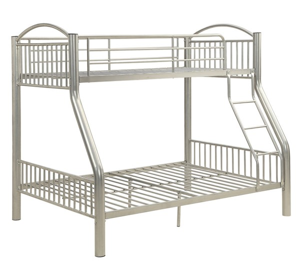 Acme Furniture Cayelynn Silver Twin Over Full Bunk Bed ACM-37380SI