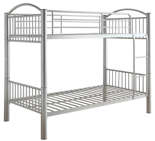 Acme Furniture Cayelynn Silver Twin Over Twin Bunk Bed ACM-37385SI