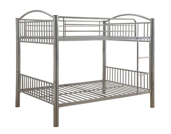 Acme Furniture Cayelynn Silver Full Over Full Bunk Bed ACM-37390SI