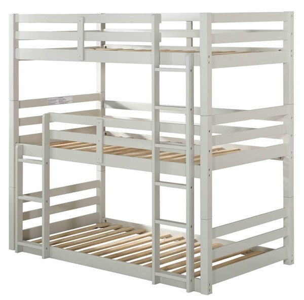 Acme Furniture Ronnie Light Gray Twin Triple Bunk Bed ACM-37420