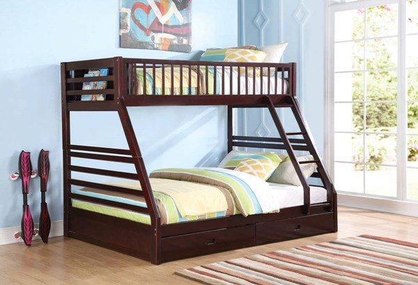Acme Furniture Jason Espresso Bunk Bed With Drawers The Classy Home