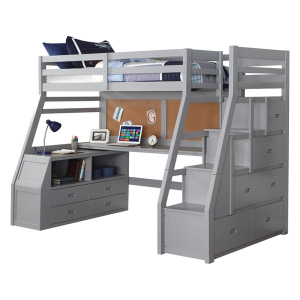 Acme Furniture Jason II Gray Twin Loft Bed ACM-37445