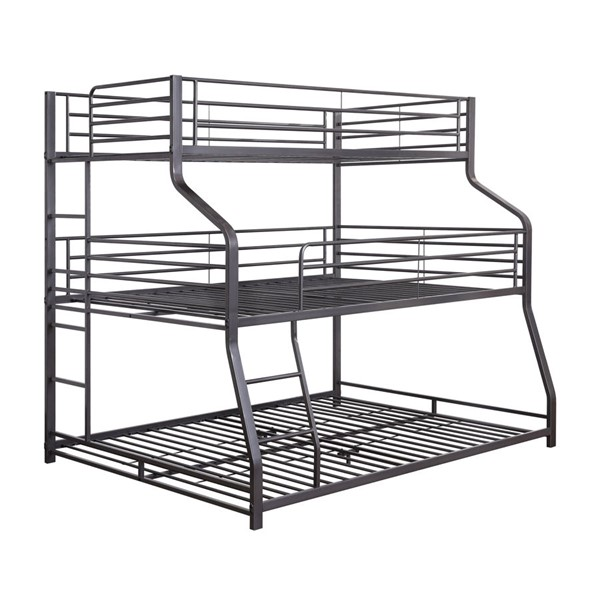 Acme Furniture Caius II Three Layer Twin Full Queen Bunk Bed ACM-37450