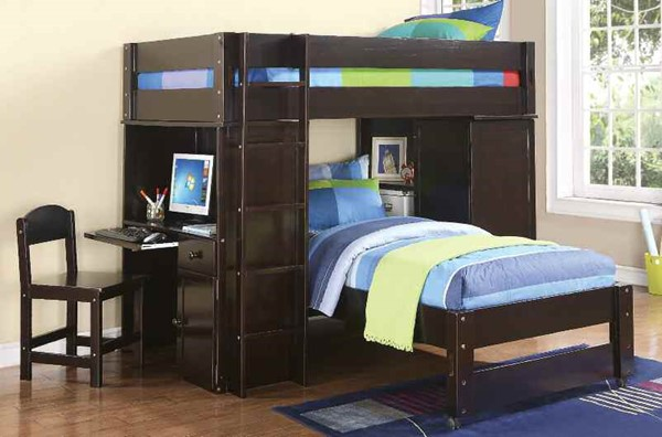 Acme Furniture Lars Wenge Twin Loft Bed The Classy Home