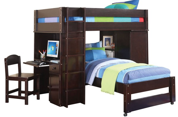 Acme Furniture Lars Wenge Twin Loft Bed ACM-37495
