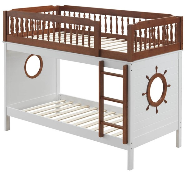 Acme Furniture Farah Oak White Twin Over Twin Bunk Bed ACM-37595