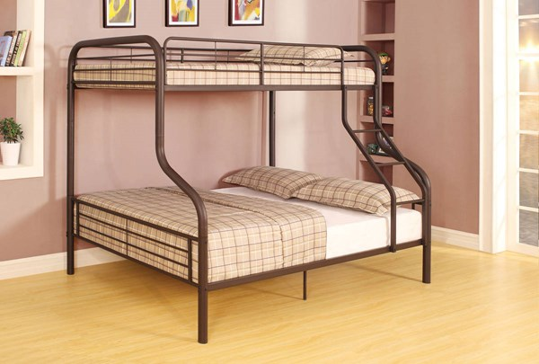 Cairo Contemporary Black Metal Twin/Full Bunk Bed ACM-37610