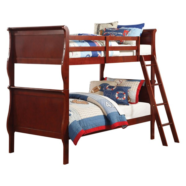 Acme Furniture Louis Philippe Cherry Twin over Twin Bunk Bed ACM-37615