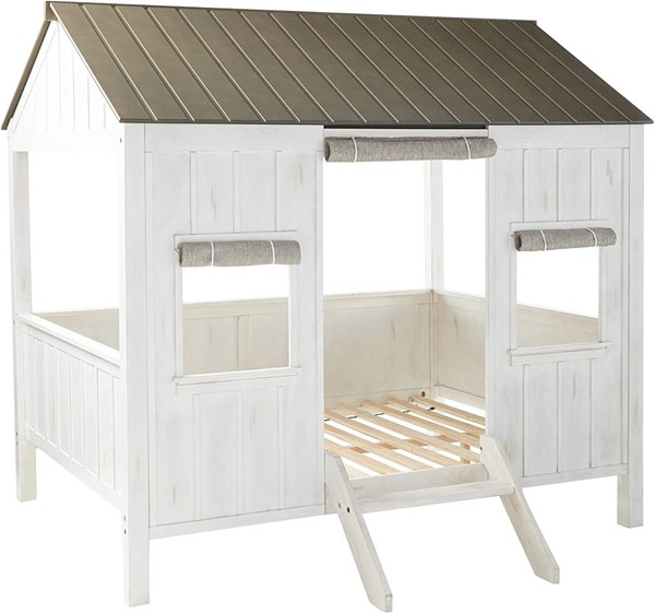 Acme Furniture Spring Cottage White Gray Full Bed ACM-37655F