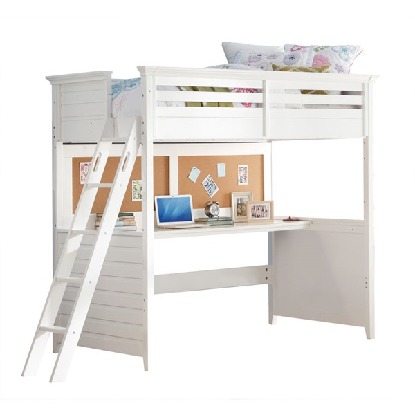 Groovy Acme Furniture Lacey White Twin Loft Bed With Desk Pdpeps Interior Chair Design Pdpepsorg