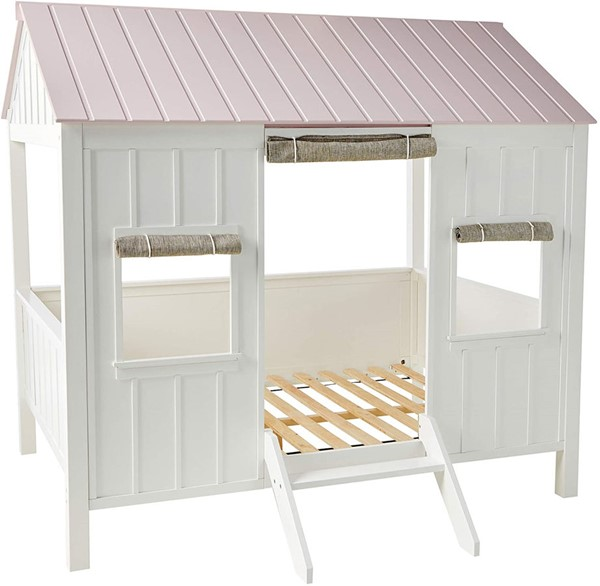 Acme Furniture Spring Cottage White Pink Full Bed ACM-37695F