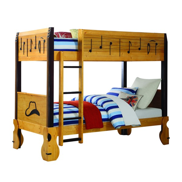 Acme Furniture Petrus Honey Twin over Twin Bunk Bed ACM-37710