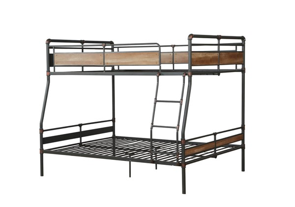 Acme Furniture Brantley II Sandy Black Dark Bronze Full XL Over Queen Bunk Bed ACM-37735