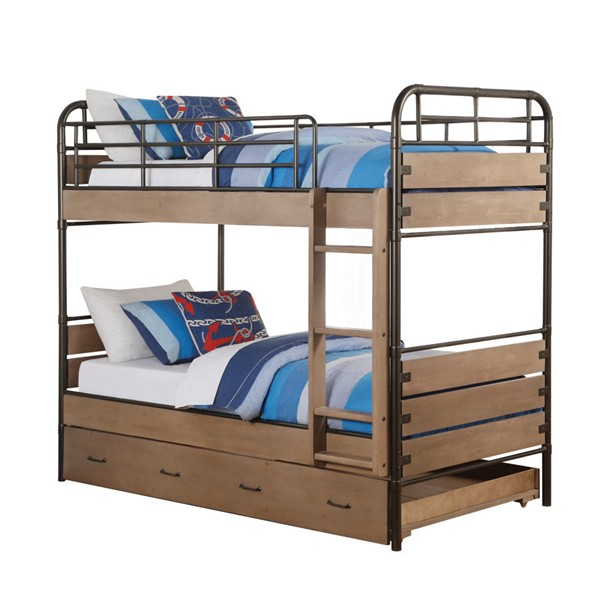 Acme Furniture Adams Twin over Twin Trundle Bunk Bed ACM-37760