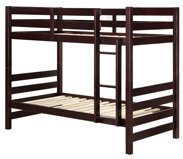 Acme Furniture Ronnie Espresso Twin over Twin Bunk Beds ACM-3777-BB-VAR