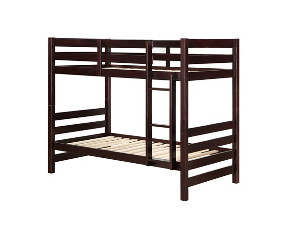 Acme Furniture Ronnie Espresso Wood Twin over Twin Bunk Beds ACM-3777-BB-VAR