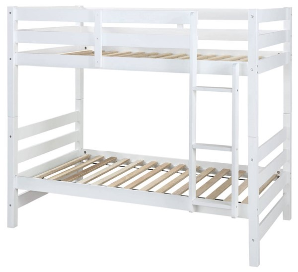 Acme Furniture Ronnie White Twin over Twin Bunk Bed ACM-37785