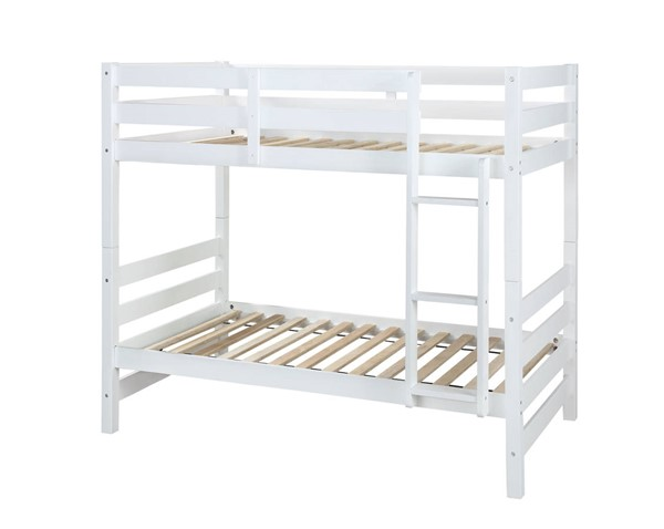 Acme Furniture Ronnie White Wood Twin over Twin Bunk Bed ACM-37785