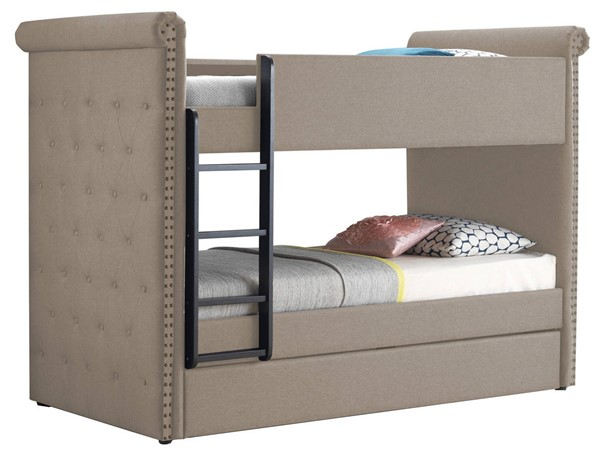 Acme Furniture Romana II Beige Twin over Twin Trundle Bunk Bed ACM-37850