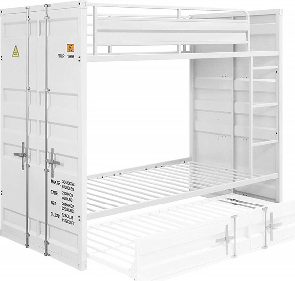 Acme Furniture Cargo White Metal Bunk Beds ACM-3788-BB-VAR