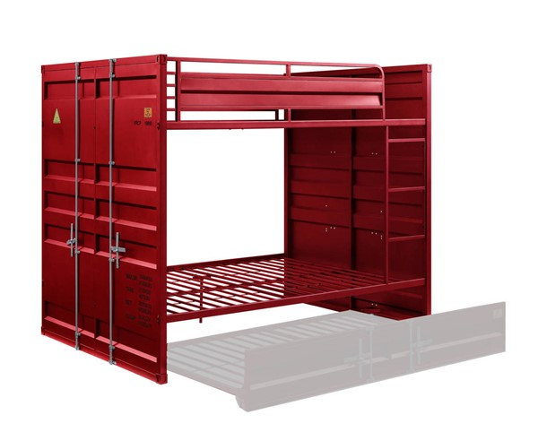 Acme Furniture Cargo Red Full Over Full Bunk Bed ACM-37915