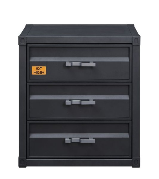 Acme Furniture Cargo Gunmetal Three Drawers Chest ACM-37957