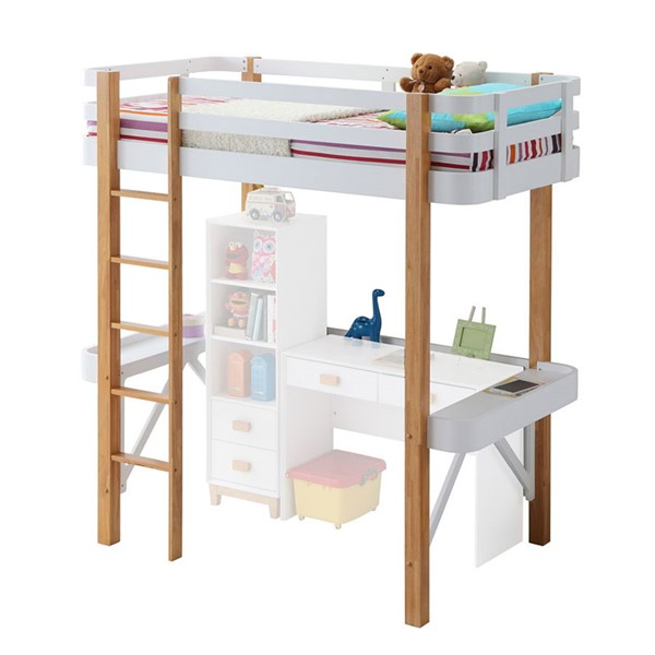 Acme Furniture Rutherford White Natural Loft Bed ACM-37970