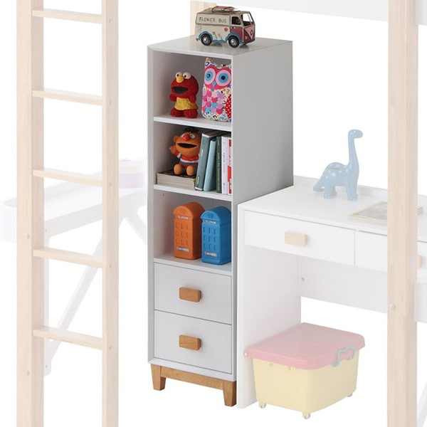 Acme Furniture Rutherford White Natural Bookcase ACM-37975