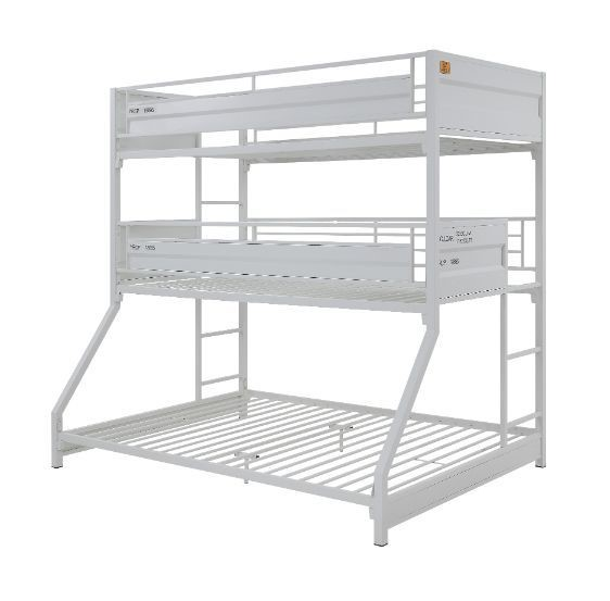 Acme Furniture Cargo Gunmetal Twin Over Twin Over Full Triple Bunk Bed ACM-37995