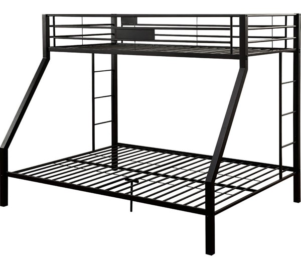 Acme Furniture Limbra Sandy Black Twin XL Over Queen Bunk Bed ACM-38000