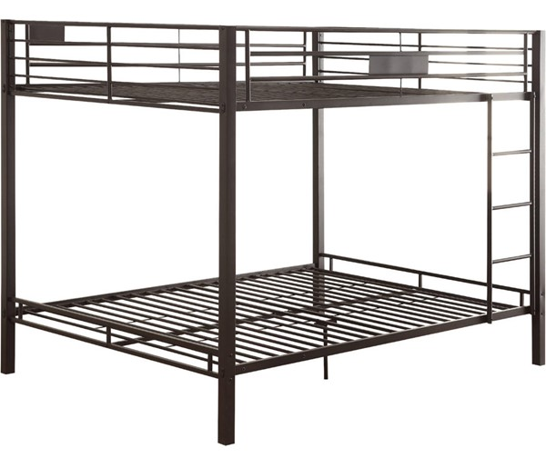 Acme Furniture Kaleb Sandy Black Queen Over Queen Bunk Bed ACM-38015