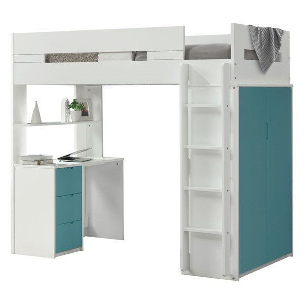 Acme Furniture Nerice Blue Twin Loft Bed ACM-38045