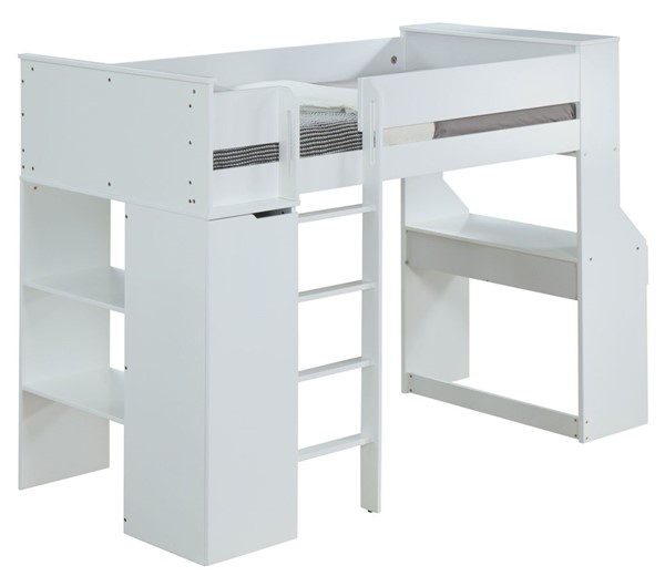 Acme Furniture Ragna White Twin Loft Bed ACM-38060